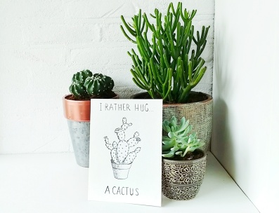 I rather hug a cactus drawing tammyttalks